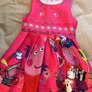 Girls size 5-6 peppa pig dress